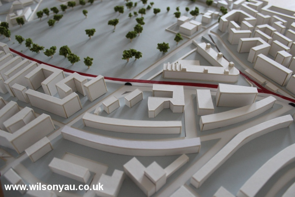 Scale model of Hackney, London, 2008