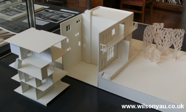 Removable floors: 13-19 Woinovichgasse, Werkbund housing estate, Vienna. Model by Wilson Yau, 2011