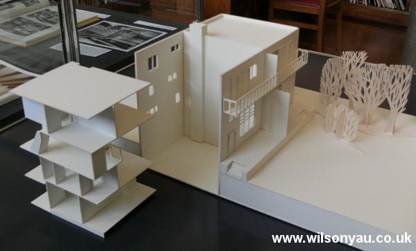 Removable floors: 13-19 Woinovichgasse, Werkbund housing estate, Vienna. Model by Wilson Yau, 2011