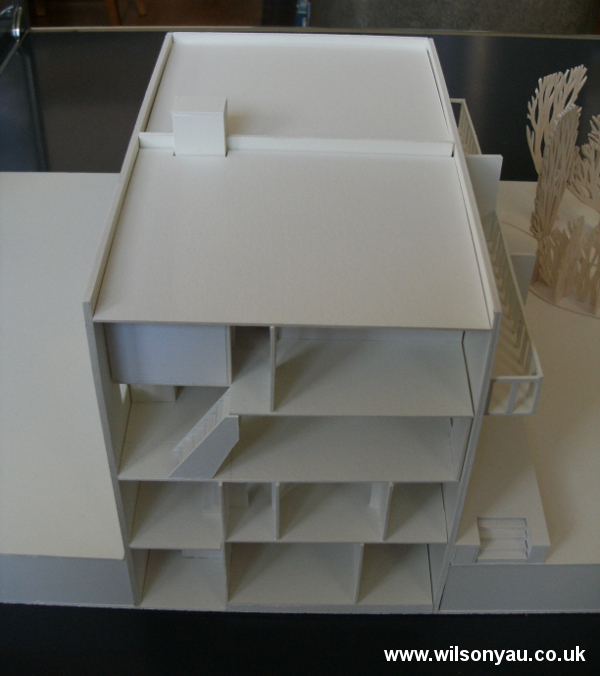 Model with roof and all floors