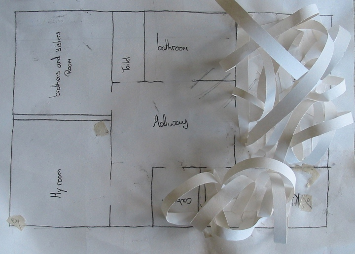 Year 7 work: Students worked from a plan they drew of their own home and created a new form/enclosure