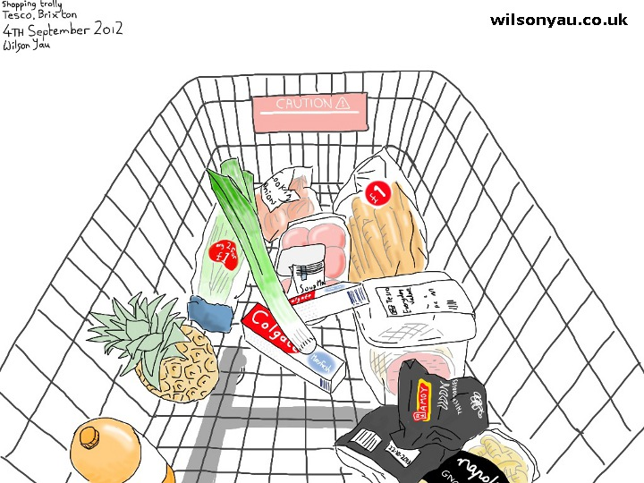 Shopping Trolley, Tesco, Brixton - 4th September 2012. Wilson Yau