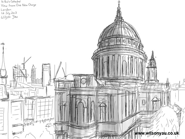 St Paul's Cathedral, viewed from One New Change, 1st July 2013