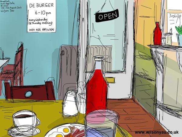 Full English, Duck Egg Café, Brixton, 12th August 2013