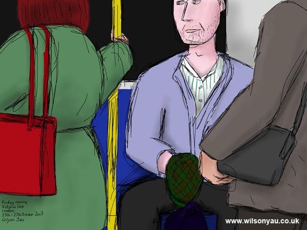Friday morning, Victoria line, 25th October 2013