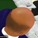 Bald man, Train to Farringdon, 21st November 2013