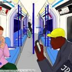 Monday evening, Victoria line, London, 21st April 2014