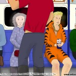 Tiger, Sunday afternoon, Brixton, Victoria line, 25th May 2014