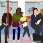 10am, Saturday morning, Maida Vale to Baker Street, Bakerloo line, 11th October 2014