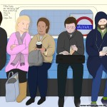 Tuesday morning, Brixton to Oxford Circus, Victoria line, 10th - 26th February 2015, London