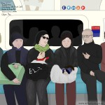 Family, 1.30pm, Thursday 22nd January 2015, Brixton to Green Park station, Victoria line, London