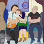 Sleeping commuters, Victoria line, 18th June 2015