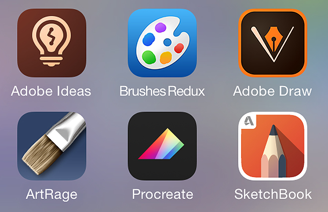 Screenshot of iPhone drawing apps