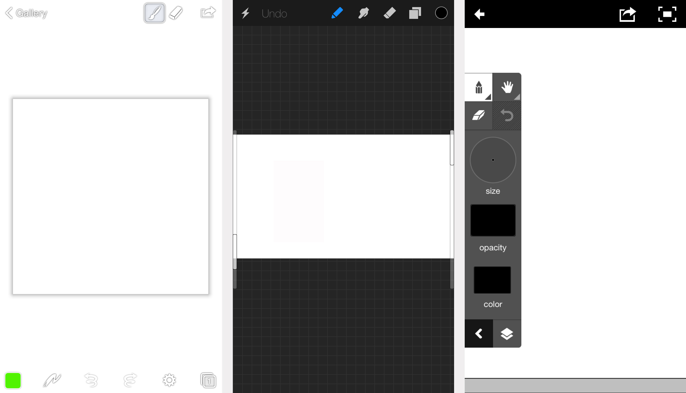 iPhone drawing app screenshots