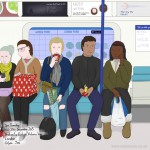 Christmas gifs, Tuesday afternoon, Victoria line, London, 15th December 2015