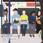 9.30am Friday, Brixton to Oxford Circus stations, Victoria line, London, 29th July 2016 (Drawing 720)