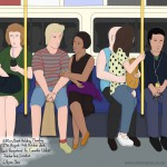 Bank holiday, Jubilee line, London, 29th August 2016 (Drawing 741)
