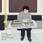 4.30pm Sunday, Victoria to South Kensington stations, District line, London (Drawing 775)