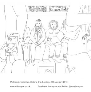 Colouring-in sheet, Victoria line, 2015 (Drawing 847)