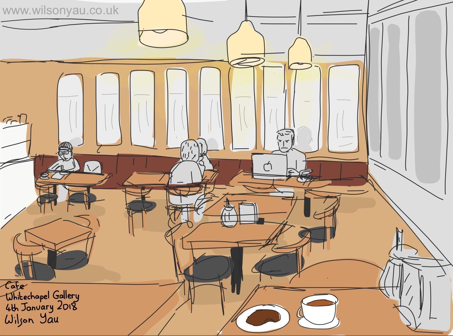 Cafe, Whitechapel Gallery, 4th January 2018