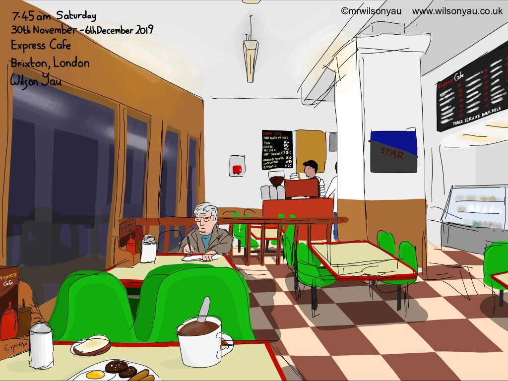 Drawing of Express Cafe, Brixton