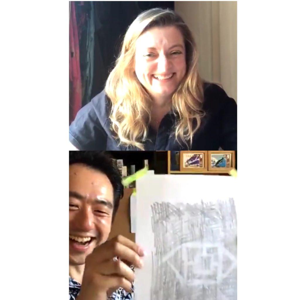 Screenshot of The Big Draw in conversation with Wilson Yau
