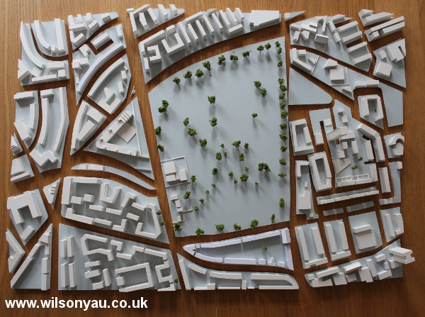 Plan view: The blocks without the base and transport links shown.