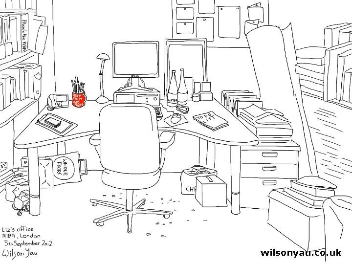 My office, London - 5th September 2012. Wilson Yau