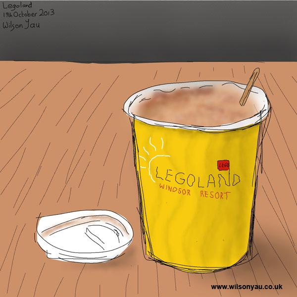Coffee break, Legoland, Windsor, 19th October 2013