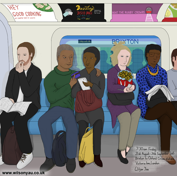 Friday morning, Victoria line 21st August 2015