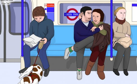 Sleeping spaniel, 7pm Tuesday, 7th November 2017, Oxford Circus to Brixton, Victoria line, London