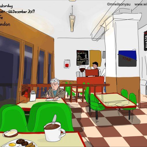 Drawing of Express Cafe, Brixton